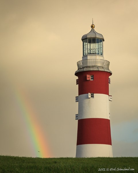 Lighthouse Rainbow by Morning Light Photography